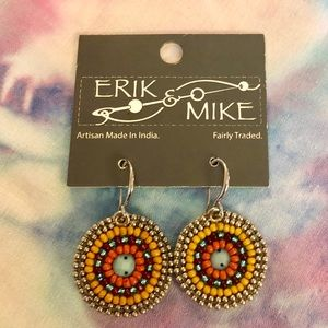 Erik & Mike Hand Beaded Earrings